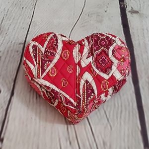 Vera Bradley Heart Quilted Jewelry Box